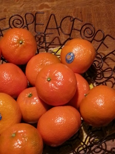 "Oranges are considered lucky for Chinese New Year because the Chinese word for ""gold"" is similar to the word for ""orange."""